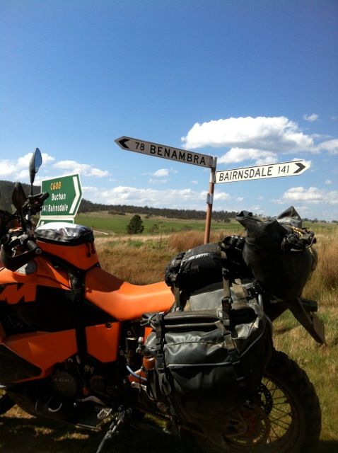 KTM 950 Adventure with Siskiyou Panniers