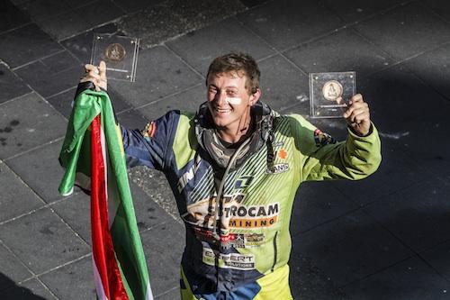 Brett Cummings 2013 Dakar Rally podium