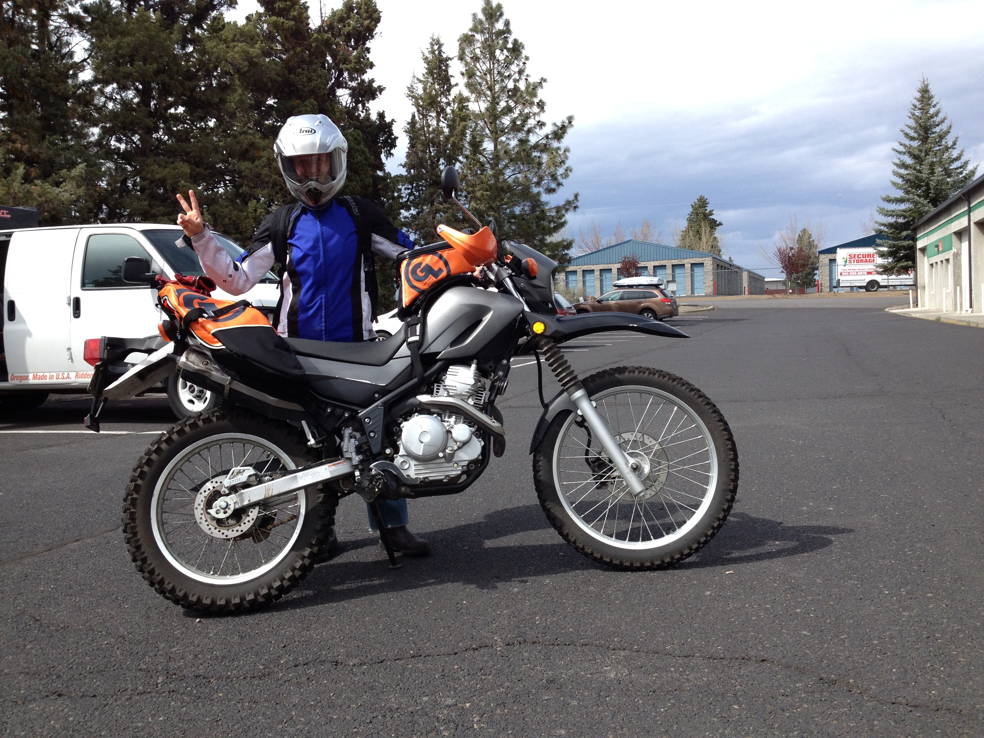 Giant Loop Rider Solana Visits Gl With Her Yamaha Xt250