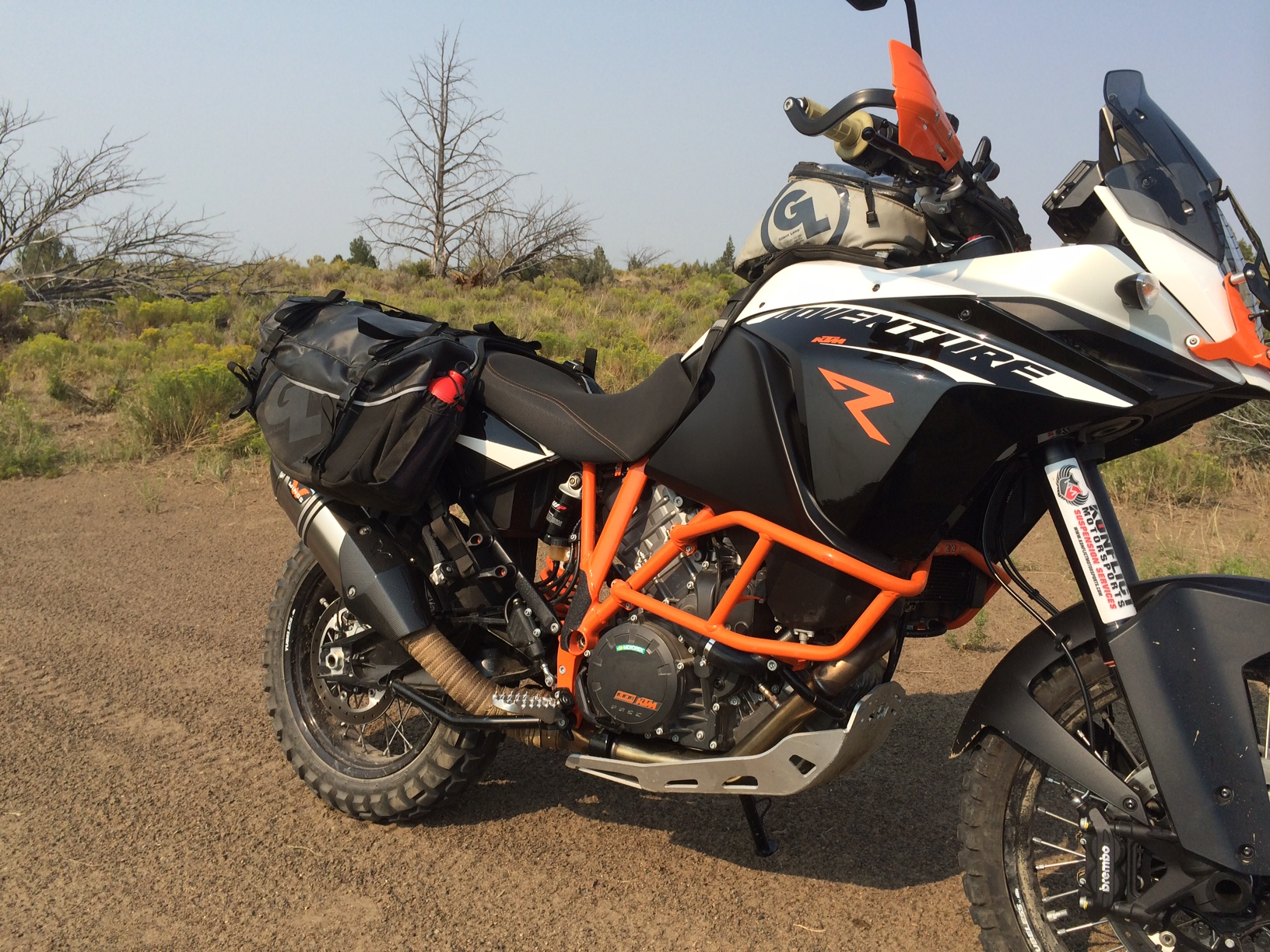 tech tip: ktm 1190 adventure with siskiyou panniers, fandango tank
