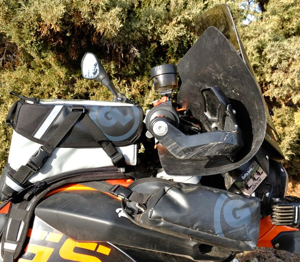 Kiger Tank Bag profile on BMW motorcycle