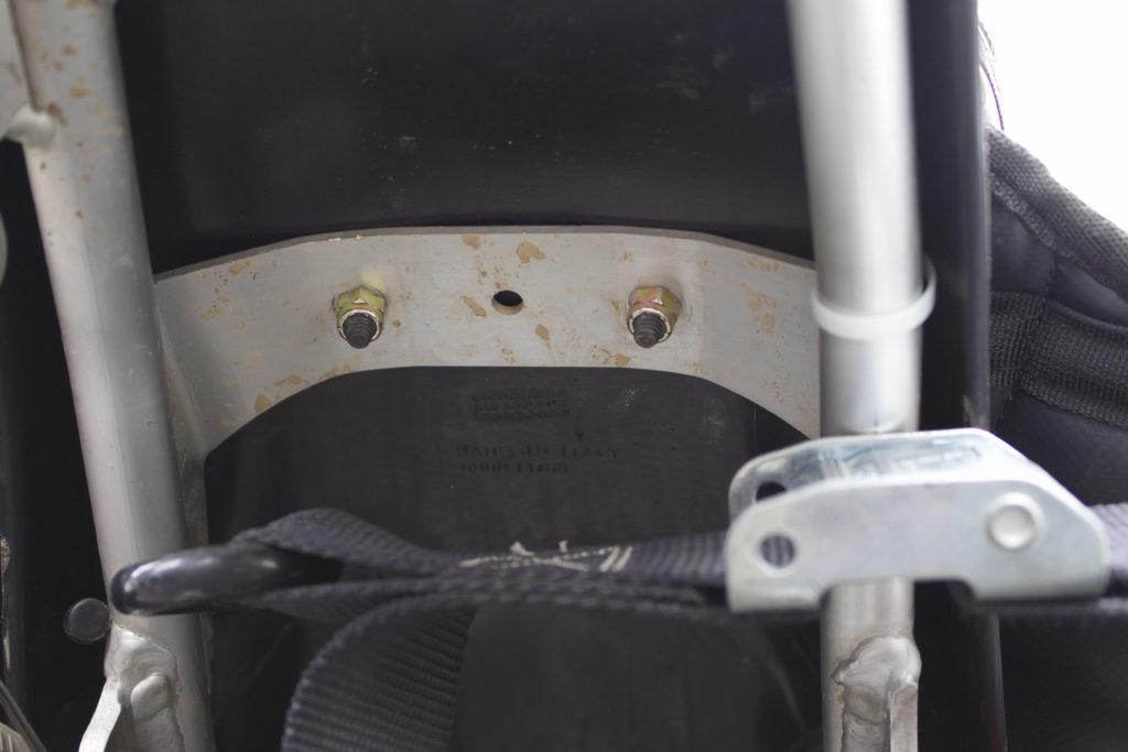 MoJavi Saddlebag bolted onto dirt bike fender brace