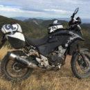 rally raid honda cb 500 x adventure with Level 3 suspension wheels exhaust shield