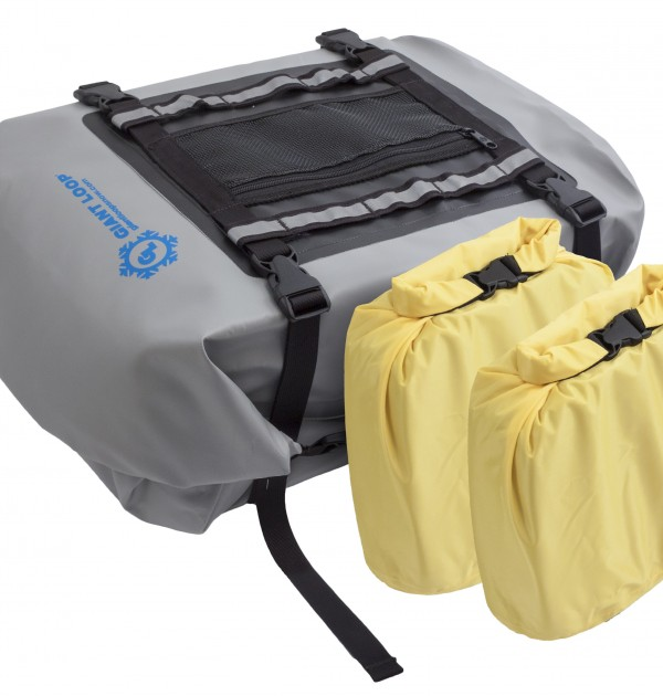 snowmobile tunnel bag w optional waterproof inner bags