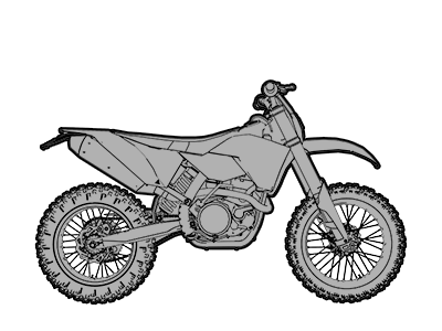 Dirt Bike Dual Sport Enduro Motorcycle icon
