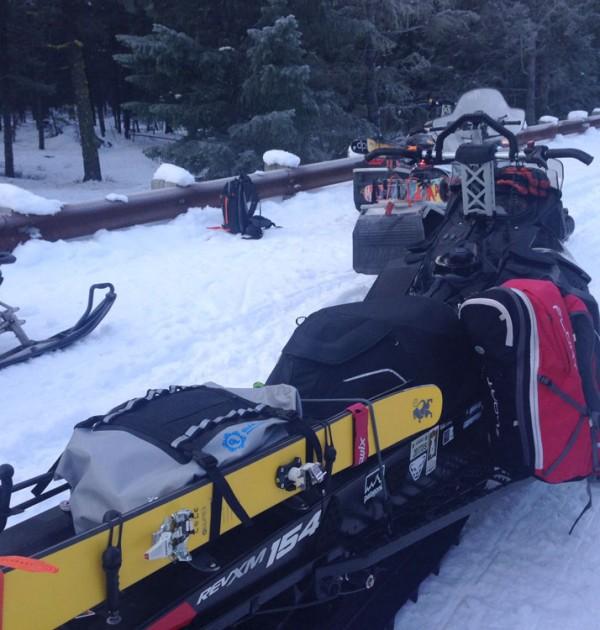 snomobile bag tunnel bag for backcountry skiing snowboarding