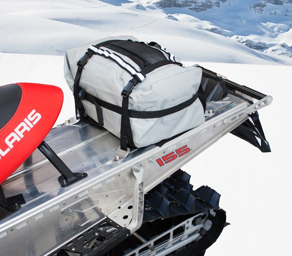 Torngat Tunnel Bag on snowmobile waterproof for gear survival equipment