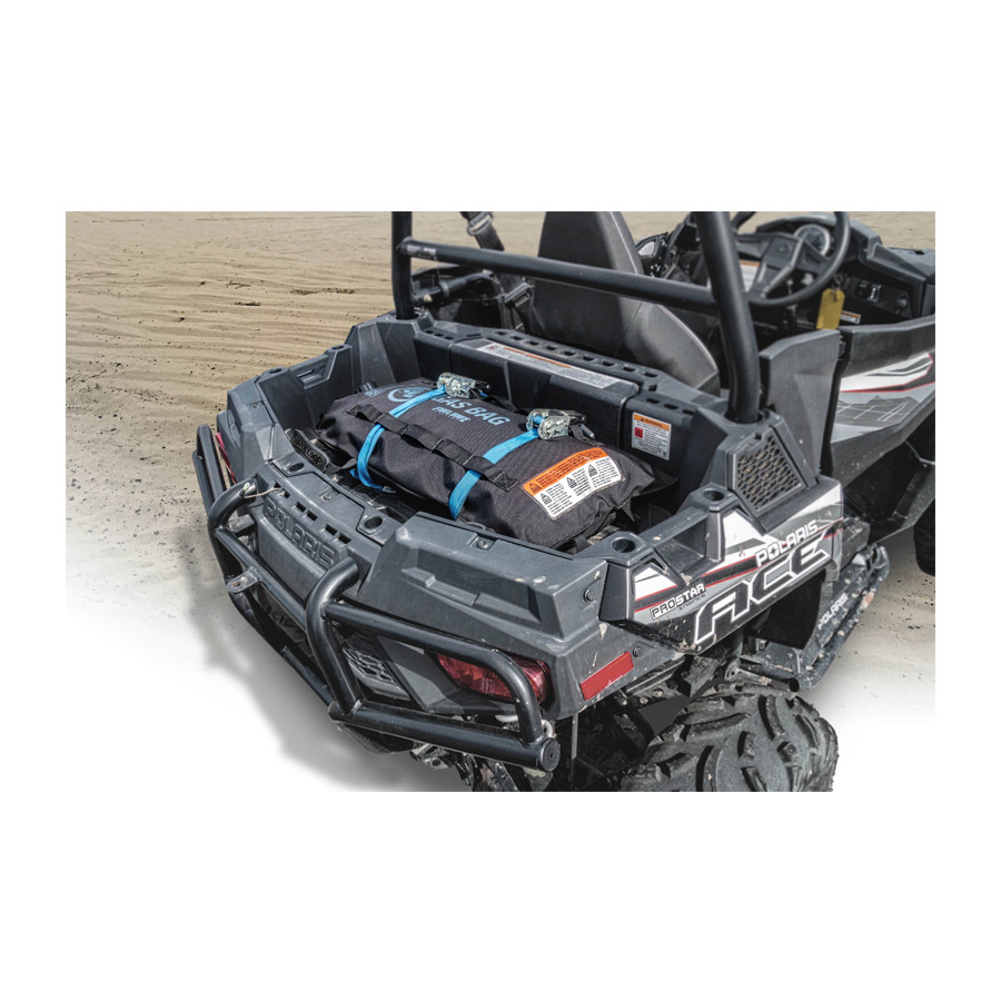 5 gallon Fuel Safe Gas Bags with a Polaris side by side