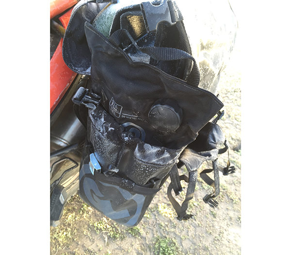 rtw panniers gas bag fuel safe bladder pocket