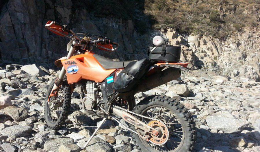 MoJavi Saddlebag with Klamath Tail Rack Pack