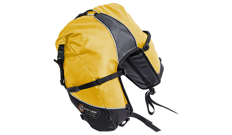 GBSB17-RT-Y Great Basin Saddlebag Roll Top Yellow