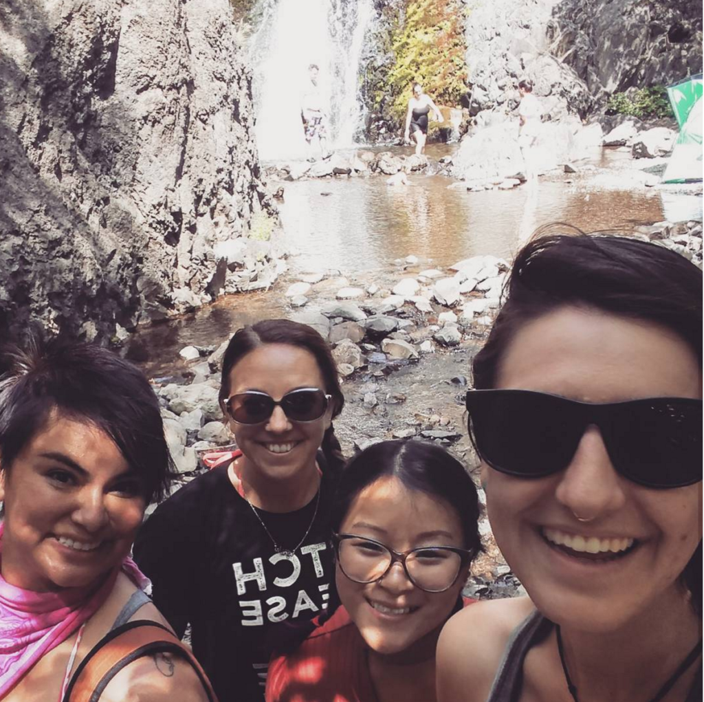 The Gravel Gang makes it to Dog Creek Falls