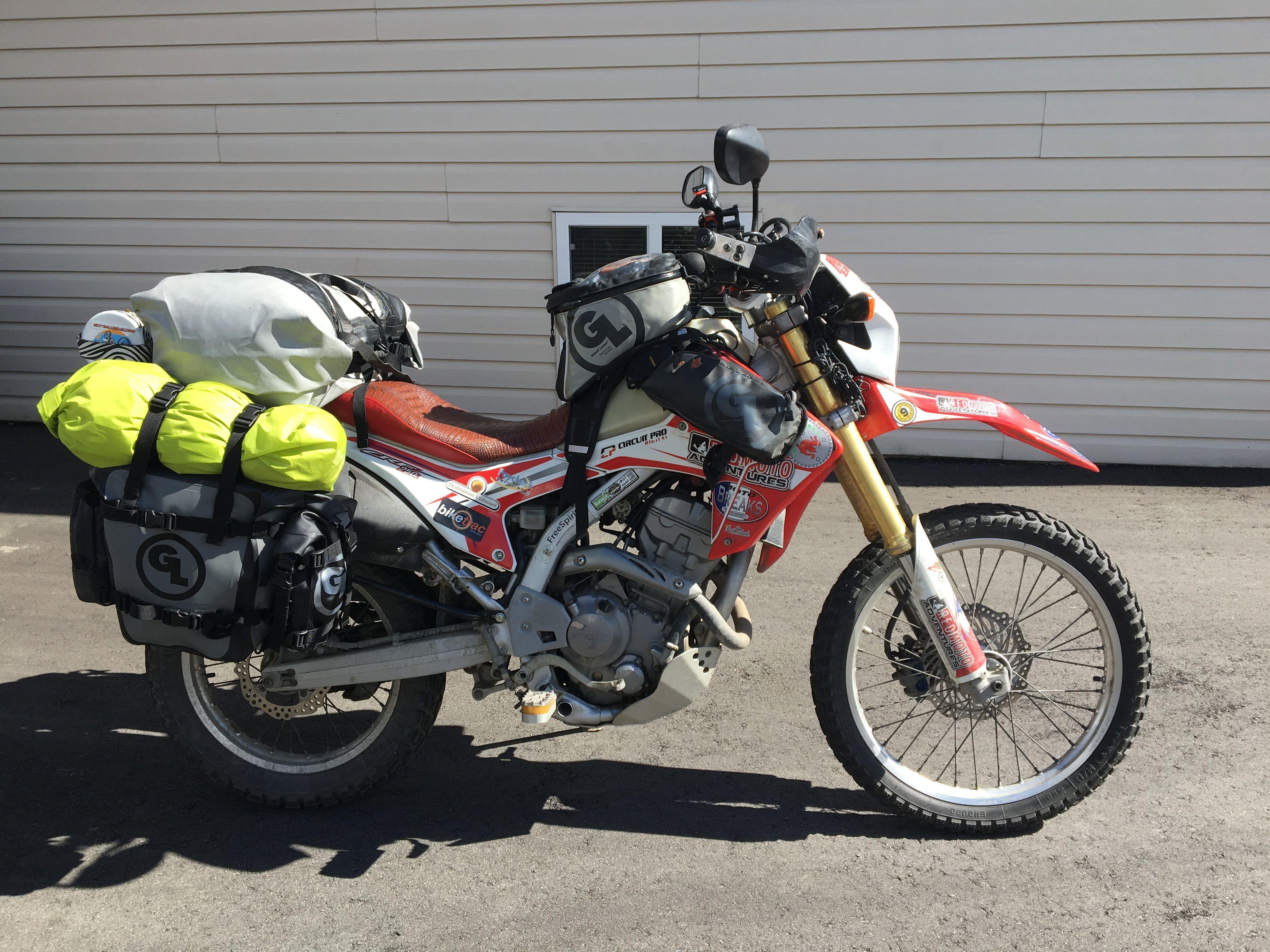 Honda CB 500 with Mototrekk Panniers