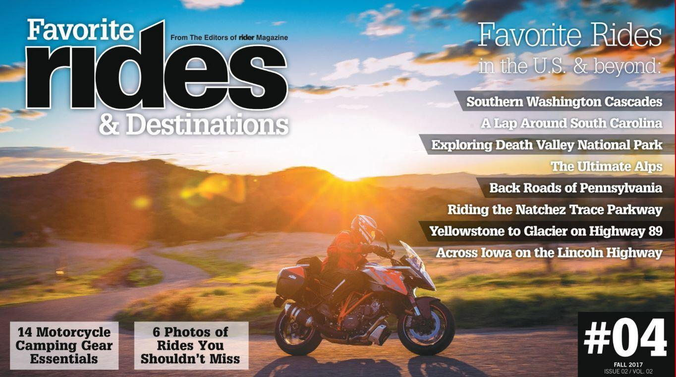 Rides and Destinations magazine