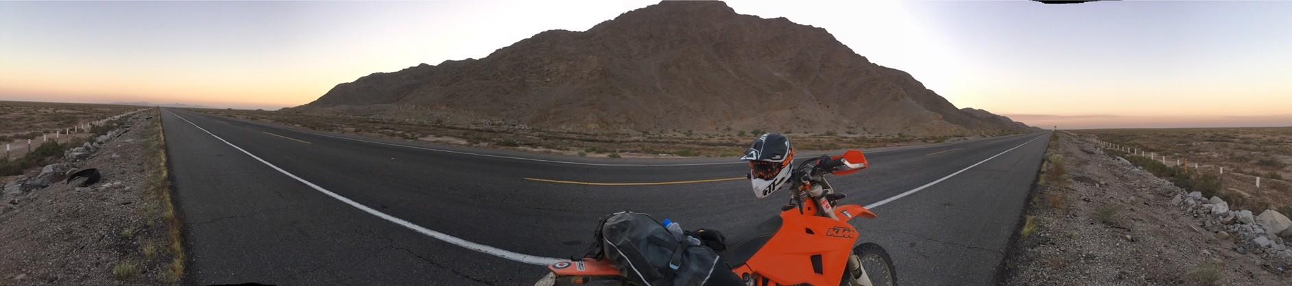 KTM 500 EXC in Baja with Giant Loop's Coyote Saddlebag