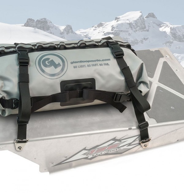 Rogue Dry Bag with Anchor Strap Kit on Snowmobile Snow Bike Tunnel
