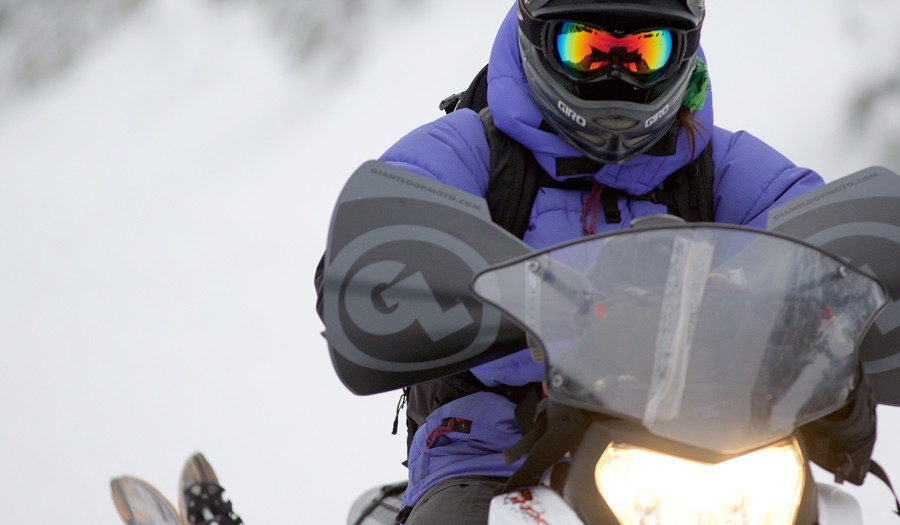 Bushwacker Hand Guards on Snowmobile