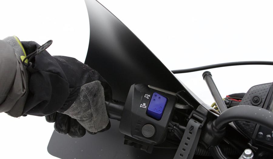 Bushwacker Hand Guards on Snowmobile