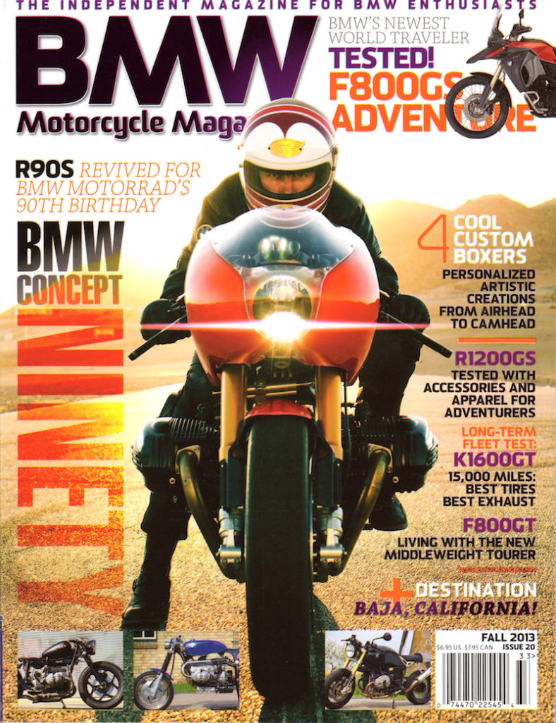 BMW Motorcycle Mag Fall 2013 cover