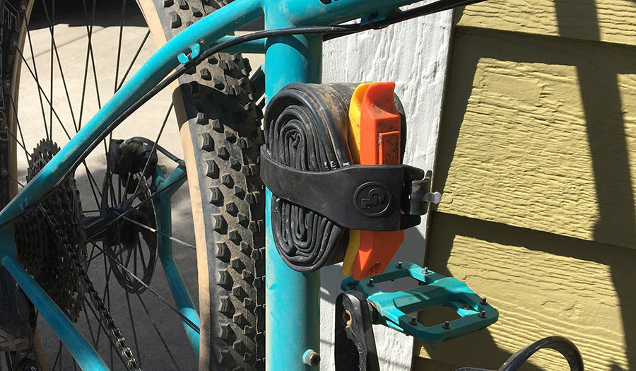 giant loop pronghorn stap anchors spare inner tube and repair kit to mountain bike frame