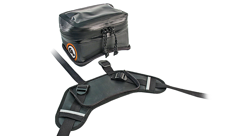 Buckin Roll Tank Bag unzips from harness