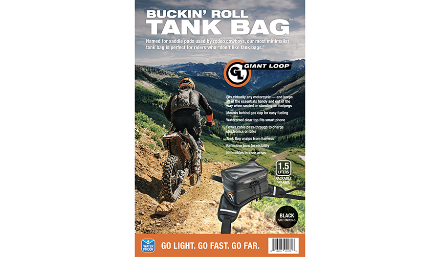 Buckin Roll Tank Bag black package cover