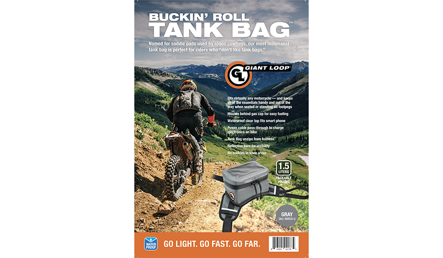 Buckin Roll Tank Bag gray package cover