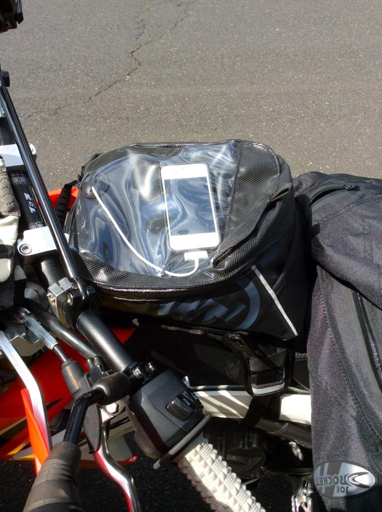Diablo Pro Tank Bag on Honda CRF250L