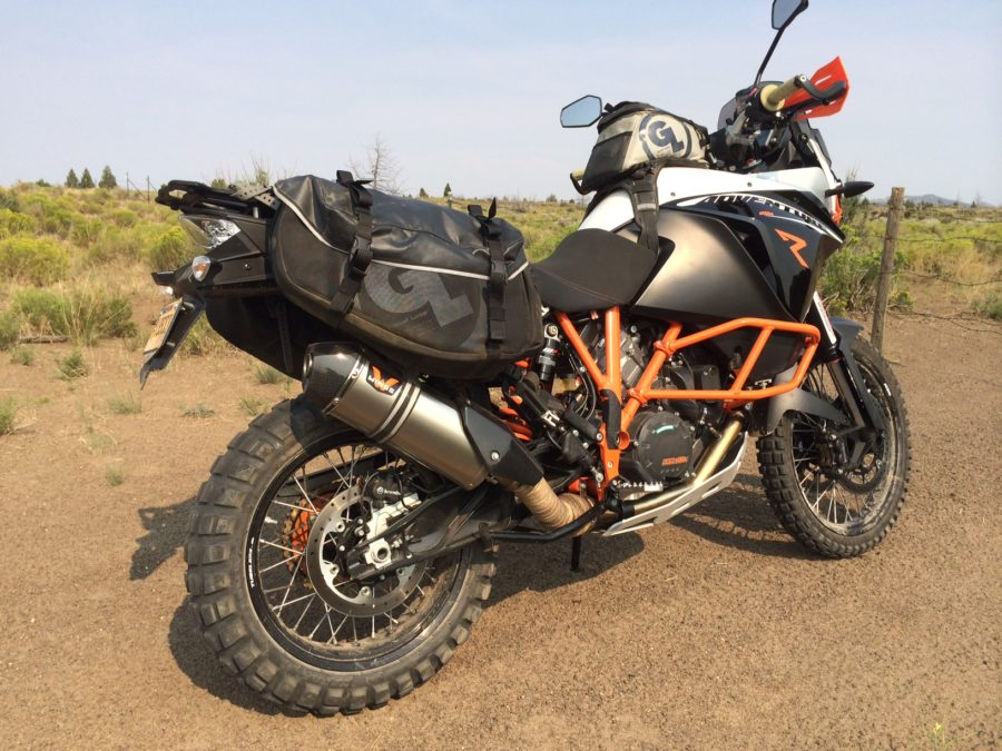 KTM 1190 Adventure with Siskiyou Panniers and Fandango Tank Bag PRO