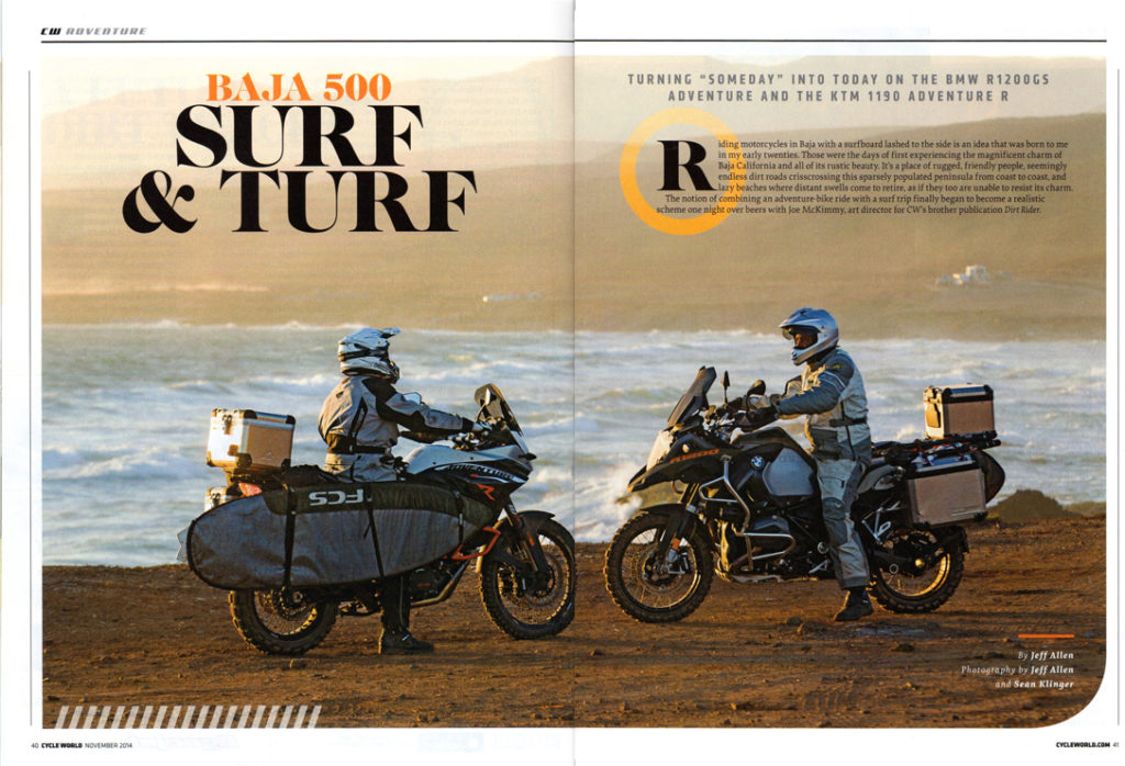 Cycle World magazine Baja 500 Surf & Turf with Pronghorn Straps