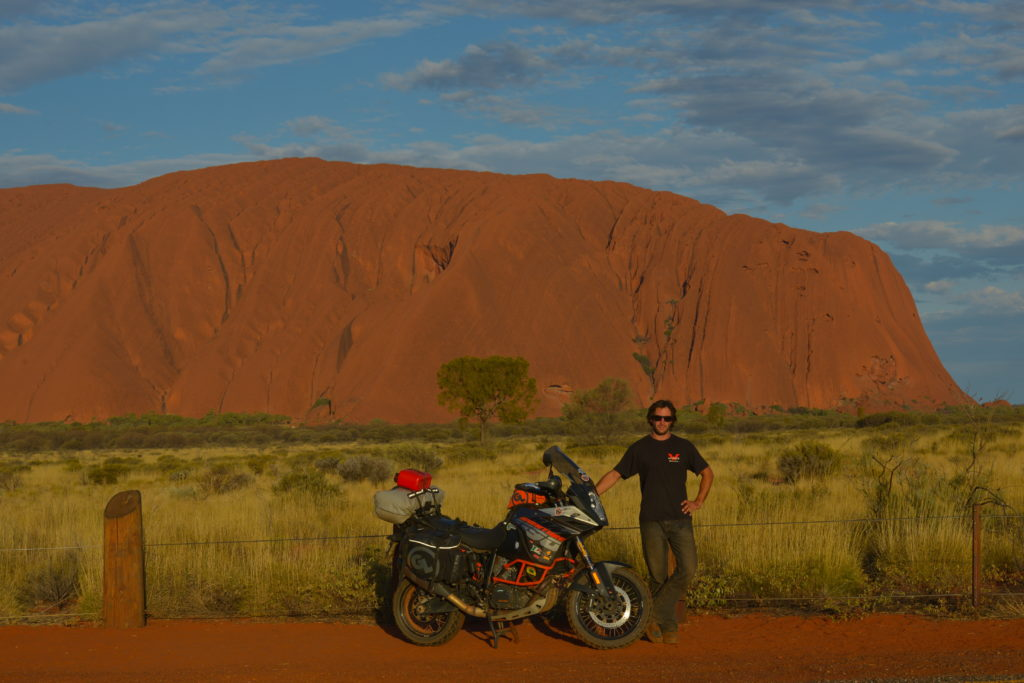Adventure tour around Australia with Siskiyou Panniers, Fandango Tank Bag, Tillamook Dry Bag