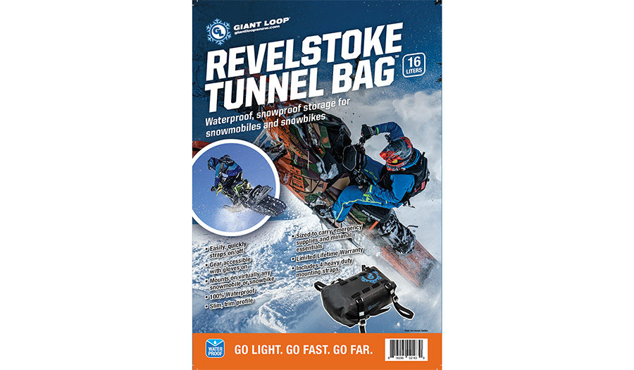 Revelstoke Tunnel Bag for snowmobiles and snow bikes