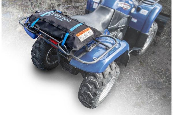 3 Fuel Safe Gas Bags with 4X4, quad, ATV