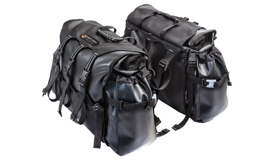 Giant Loop's Round the World Panniers rack-mounted motorcycle soft luggage