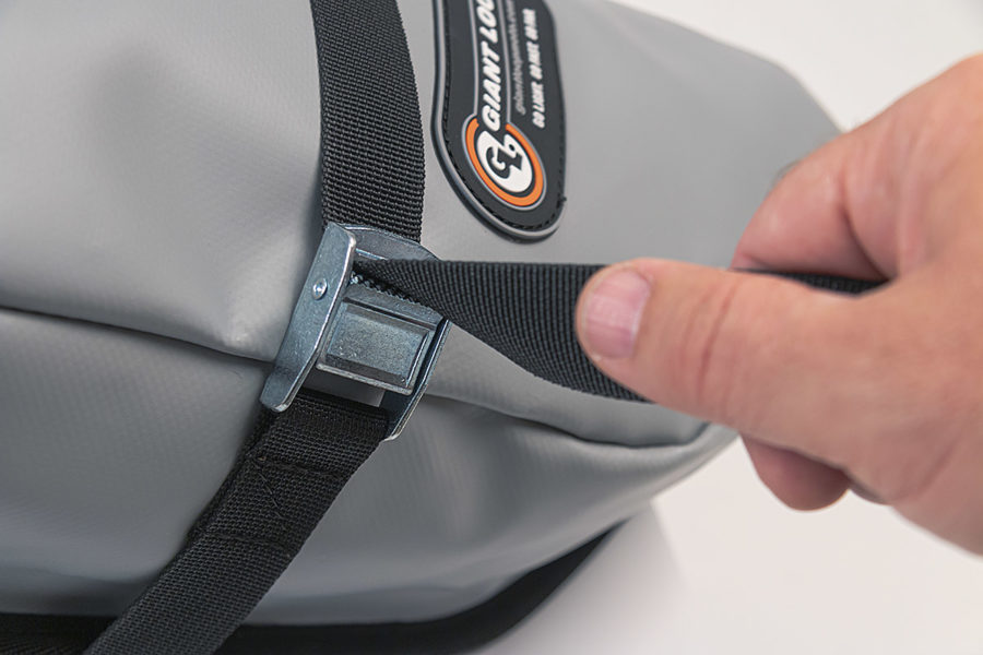 MoJavi Saddlebag with cam buckle compression strap by Giant Loop