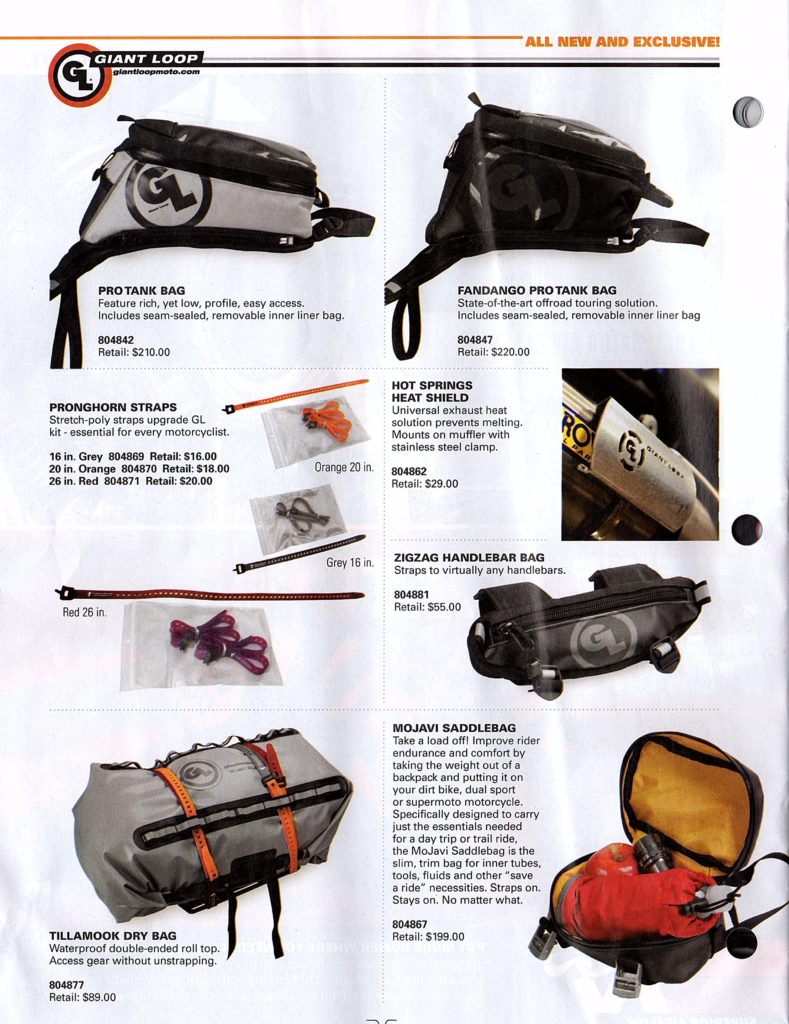 Giant Loop's USA distributor Tucker Rocky spotlights our adventure proof packing systems and gear.