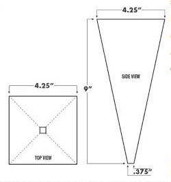fast funnel dimensions