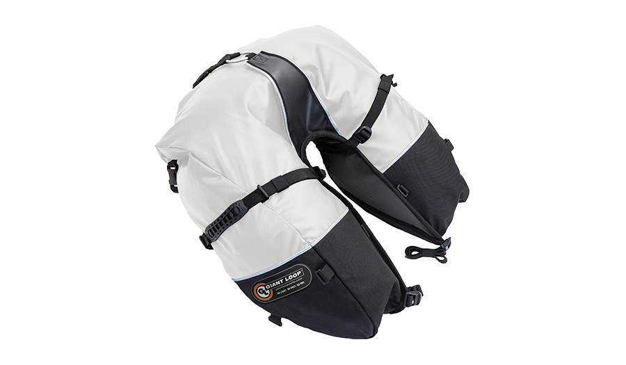 CSB17-RT-W Coyote Saddlebag Roll Top White