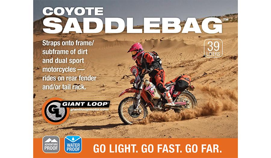 Coyote Saddlebag Roll Top