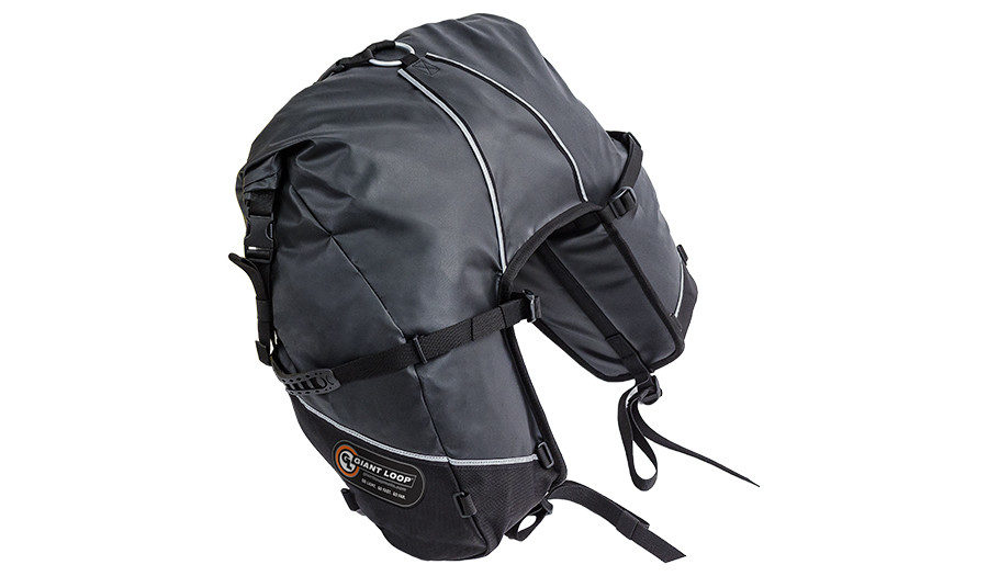 GBSB17-RT-B Great Basin Saddlebag Roll Top Black