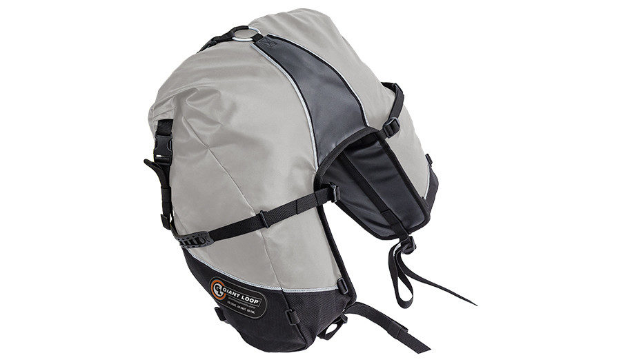 GBSB17-RT-G Great Basin Saddlebag Roll Top Gray