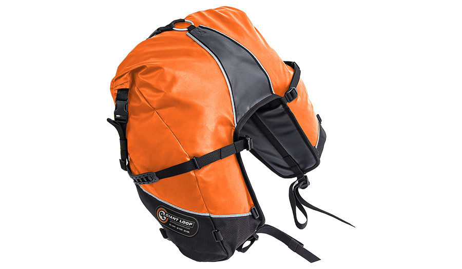 GBSB17-RT-O Great Basin Saddlebag Roll Top Orange