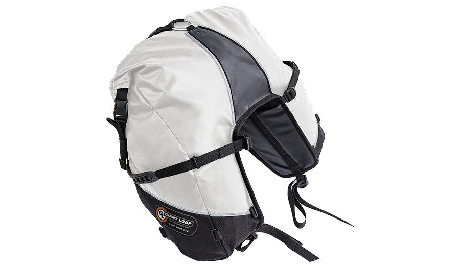 GBSB17-RT-W Great Basin Saddlebag Roll Top White