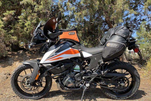 Coyote Saddlebag on KTM 390 Adventure