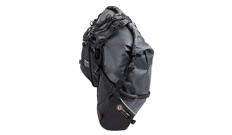 Great Basin Saddlebag-Roll Top closed and sealed