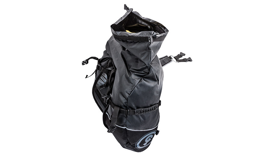 Giant Loop Roll Top Saddlebag opening