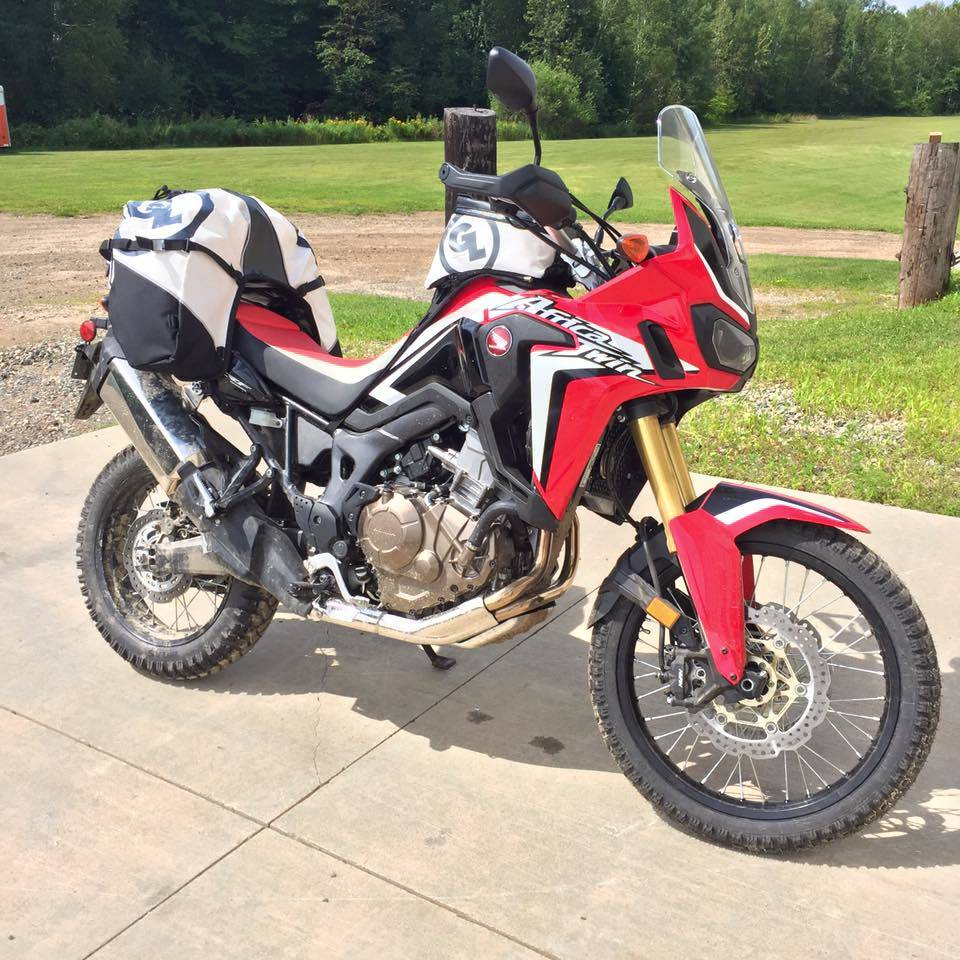 Honda Africa Twin with Giant Loop's Fandango Tank Bag and Great Basin Saddlebag