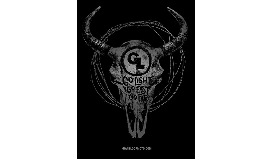 Giant Loop Bison Skull + Barbed Wire T-Shirt