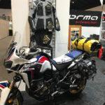 MotoTrekk Panniers on Honda Africa Twin at Sydney Motorcycle Show