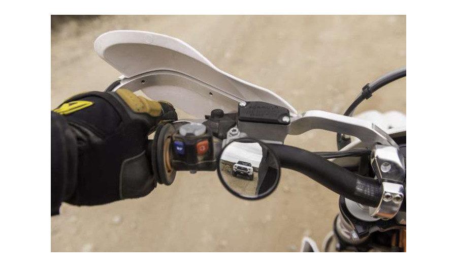 Doubletake trail Mirror on motorcycle